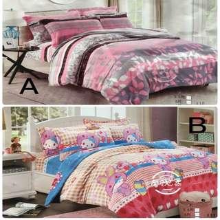 🚚 法蘭絨舖棉雙人床包組 法蘭絨四件式 法蘭絨被套 雙人床包組