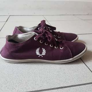 Fred perry burgundy kingston twill