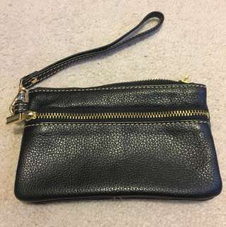 Barney's New York leather wristlet