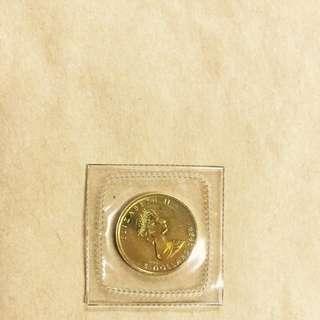 金幣💰收藏-🇨🇦加拿大楓葉金幣1989年-1/10 盎司