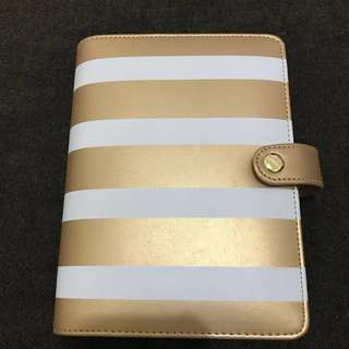 Recollections Gold and Ivory Stripes Planner by Michael's *Repriced*