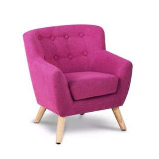 Kids Fabric Armchair Pink SKU: KID-CHAIR-A5-PK