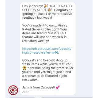 Thank you Carousell! ❤️