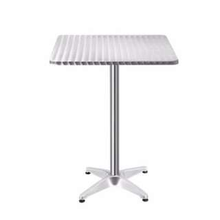 Stainless Steel Bar Square Table SKU: FF-TABLE-AL60-SQ