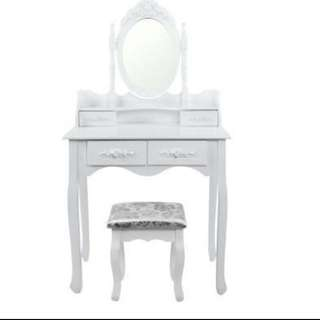 NEW DESIGN DRESSING TABLE AND STOOL - BRAND NEW IN BOX - WHITE