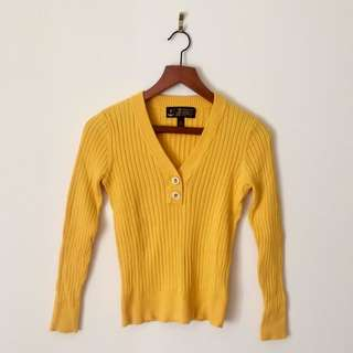 Ralph Lauren Yellow Ribbed Sweater