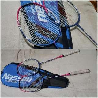 Nassau badminton racket set