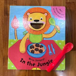 Children's Board Book with Spoon and Pull-Out Tabs