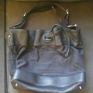 Burberry shoulder tote bag with calf leather