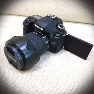 For rent: Canon 80d with canon 18-135mm
