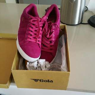 Women  GOLA Suade Leather Sneakers
