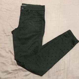 Black Polka Dot Pants (White House Black Market)