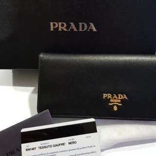 SALE! Prada Saffiano Long Wallet
