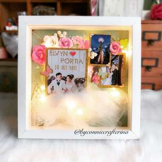 Personalised 3D photo frame (Fairy lighting wedding)