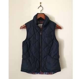 Navy Blue Quilted Puff Vest