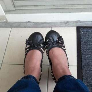 豹紋真皮契型鞋