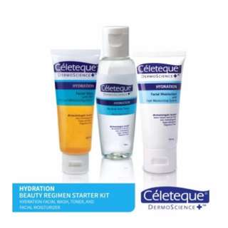 Celeteque toner mositurizer facial wash set