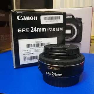 95%新 Canon EF-S 24mm f/2.8 STM