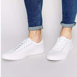 FRED PERRY Kendrick Tipped Cuff Leather White Shoes Real Leather Tennis Sneakers