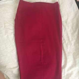 Kookai dark pink midi skirt