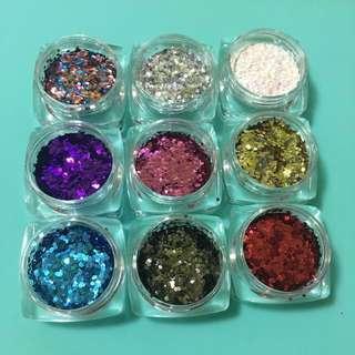 Glitter For Nail Art / Gel Nails/ Gelish / Nail Polish set 6