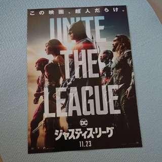 WTT / WTS Justice League movie poster japan