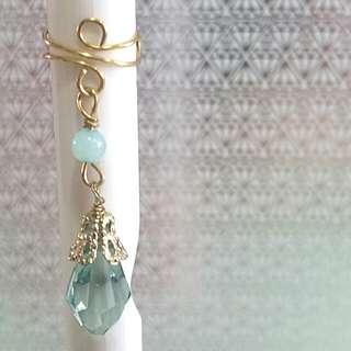 • Jasmine • Handmade Ear Cuff • Adjustable Gold Artistic Wire Earcuff