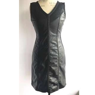 Max Studio Faux Leather Braided Dress, Size Small