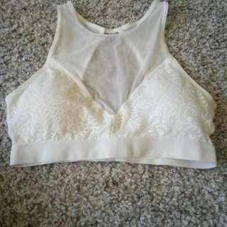 Cotton on body crop bra