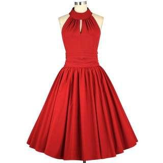 1950s swing dress and petticoat
