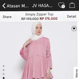 JV Hasanah simply zipper top (from zalora)