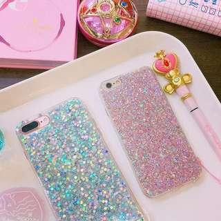 🚚 🍎Apple Iphone6S Plus 亮片超閃手機殼(粉)