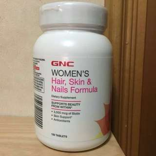 GNC Hair, Skin & Nails Formula 亮髮美肌配方 (120 tablets)