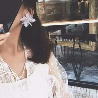 🛍#89 耳環 立體花花