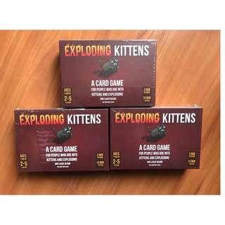 Exploding Kittens/Exploding Kitten Board Games (KOTAK MERAH) Card Game