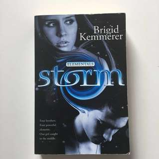 "Free with any purchase over $10 / ""Storm"" by Brigid Kemmerer"