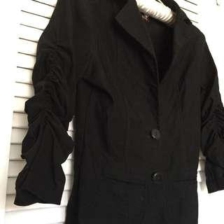 Blazer - black, size S, stretchy arms