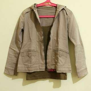 Brown jeans jacket