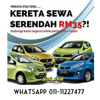 Kereta Sewa Serendah RM35 (For Student)
