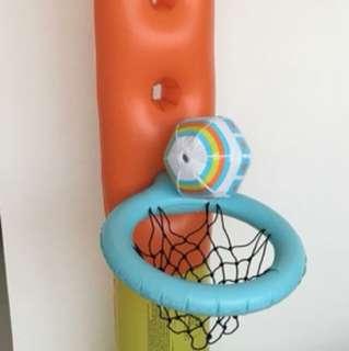 Inflatable basket ball game