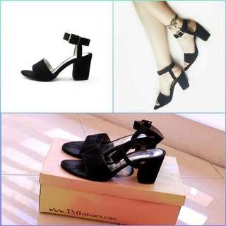 Khansa heels black