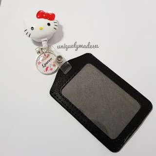 Hello Kitty Personalized Retractable Reel ID badge/Ezlink holder