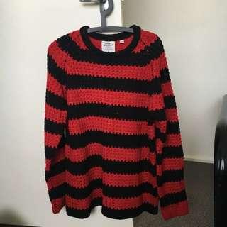 CHEAP MONDAY Zoom Strip Knit Sweater Jumper