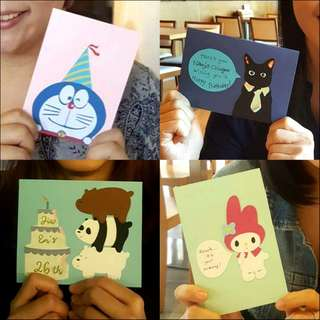 Card Customisation Service for Greetings / Birthdays / Love Occasions etc