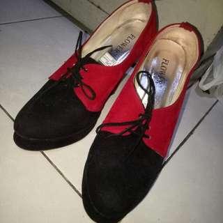 Sepatu Heels Semi Boots