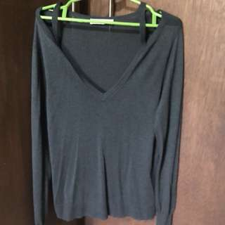 Zara knitted 3/4 blouse size M