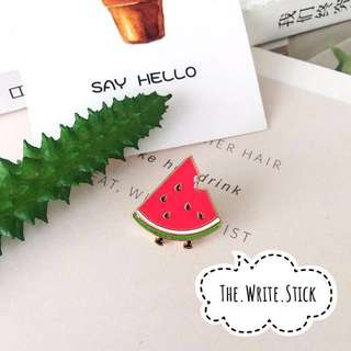 Watermelon Slice Enamel Pin Instocks