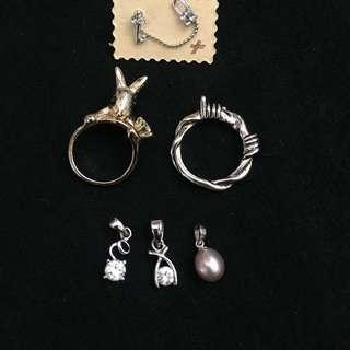介子ringsx2, earringsx1, 鏈咀x3
