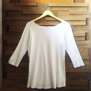 😍 Zara Premium Organic Cotton Long Sleeve Top M/L