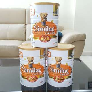 PROMO:  Similac Gain kid 3 cans 1.8kg $126                                                 Free delivery north area!!        Ready stock!!